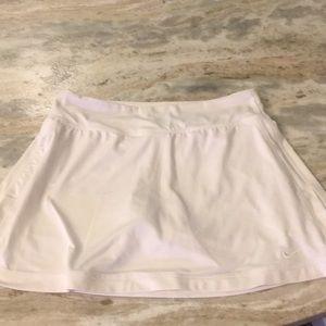 White Nike Tennis skirt. Built in shorts
